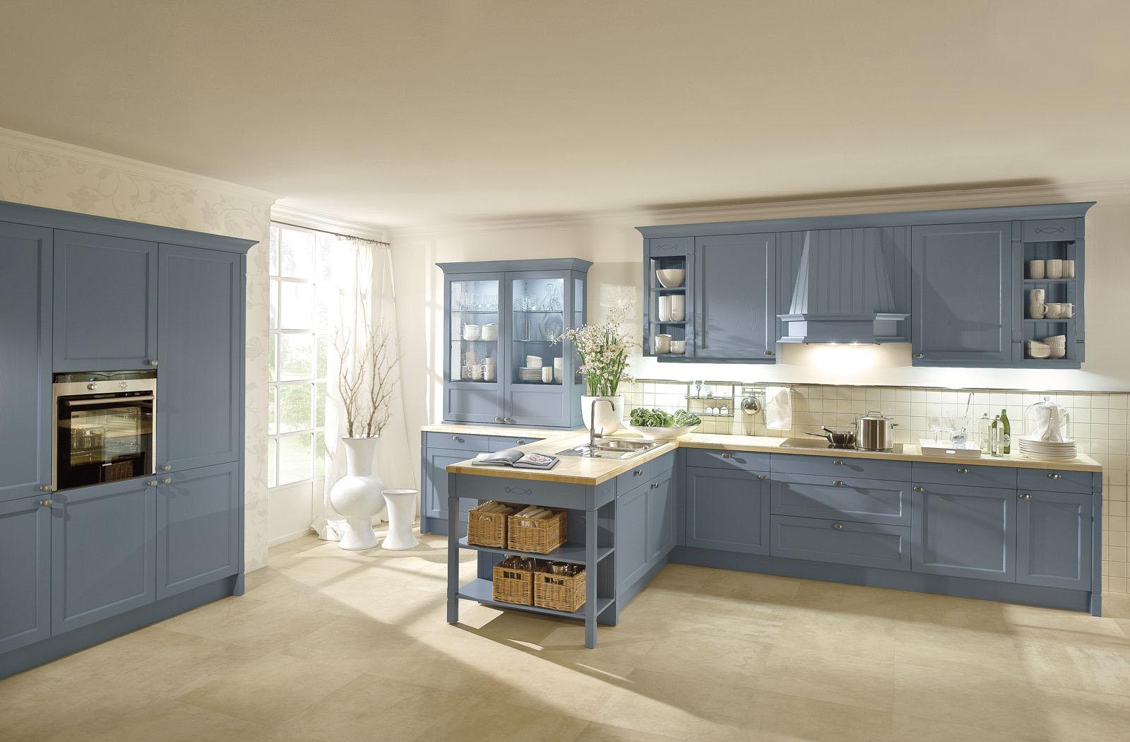 Charmant Küchenwände Blau Lackiert Ideen - Ideen Für Die Küche ...
