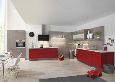 laser brillant chili red basalt grey high gloss