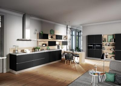 6000 black satin lacquer